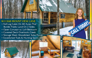 For sale: Cabin off the grid - Lakefront homes, waterfront lots, lakeside cabins, off water houses, hunting land, and commercial property for sale in Northern Wisconsin. Call Northwoods Community Realty for all your real estate needs. Whether you're a first time home buyer or you're looking for a vacation home, call Tomahawk's leading real estate office.