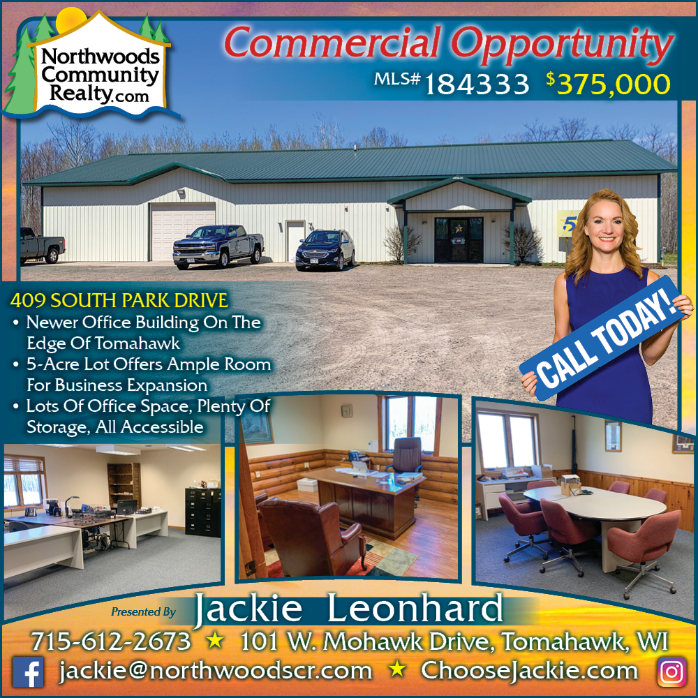 Tomahawk Commercial Opportunity! Call today.Lake Nokomis - Lakefront homes, waterfront lots, lakeside cabins, off water houses, hunting land, and commercial property for sale in Northern Wisconsin. Call Northwoods Community Realty for all your real estate needs. Whether you're a first time home buyer or you're looking for a vacation home, call Tomahawk's leading real estate office.