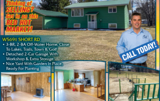W5691 Short Rd - Call Keith Hanse for Lakefront homes, waterfront lots, lakeside cabins, off water houses, hunting land, commercial property, and all MLS listings for sale in Northern Wisconsin. Call Northwoods Community Realty for all your real estate needs. Whether you're a first time home buyer or you're looking for a vacation home from Lake Nokomis to Lake Minocqua, call Tomahawk's leading real estate office or visit NorthwoodsCommunityRealty.com.